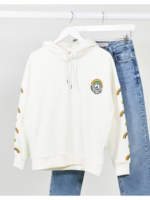 Quiksilver boxy hoodie in white