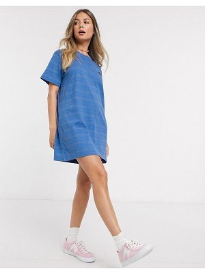 Quiksilver printed jersey dress in blue-blues