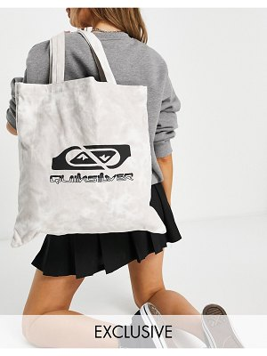Quiksilver the classic tie dye tote in beige exclusive to asos-neutral
