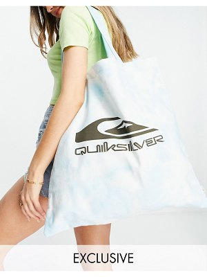 Quiksilver wave project tie dye tote bag in blue exclusive at asos-blues