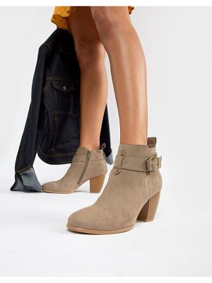 QUPID mid ankle boots-beige