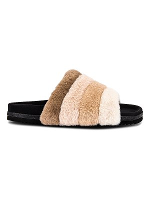 R0AM prism faux fur slide
