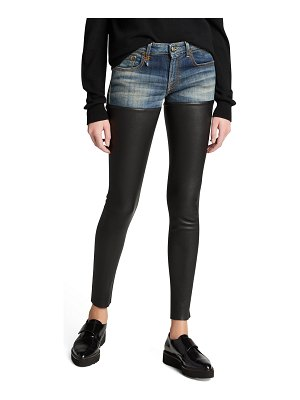 R13 Bedford Leather Chap Jeans