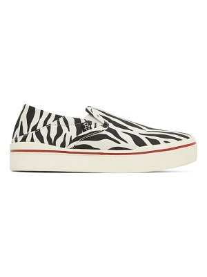 R13 black and white zebra sneakers