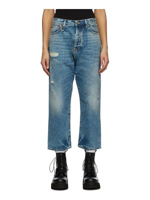 R13 blue tailored drop jeans