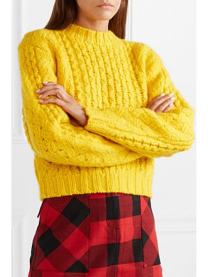 R13 cropped cable-knit wool sweater