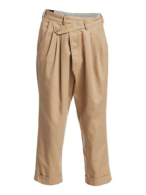 R13 cropped triple-pleat crossover pants