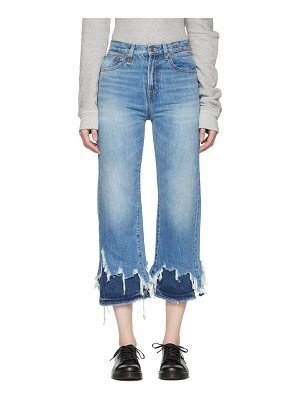 R13 Double Shredded High-rise Camille Jeans