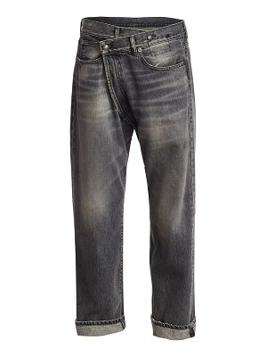 R13 faded crossover jeans