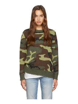 R13 green  cashmere sweater