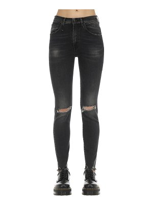 R13 High rise skinny cotton denim jeans