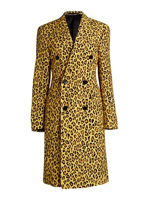 R13 leopard print double-breasted jacket