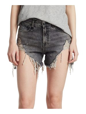 R13 leyton shredded shorts