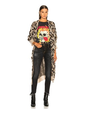 R13 long leopard cardigan