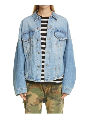 R13 max's high/low oversized denim trucker jacket