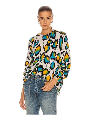 R13 multicolor leopard oversized sweater