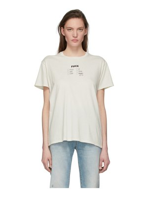 R13 off-white fifty fifty boy t-shirt