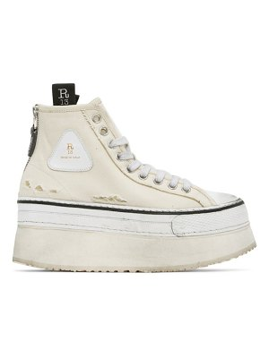 R13 off-white platform high-top sneakers
