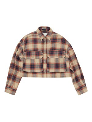R13 oversized plaid cropped jacket