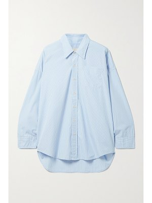 R13 oversized striped cotton oxford shirt