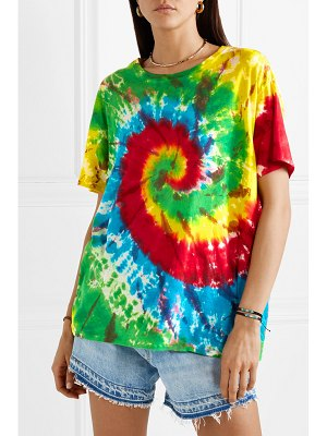 R13 oversized tie-dyed cotton and cashmere-blend jersey t-shirt