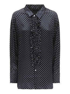 R13 Polka dot print silk shirt