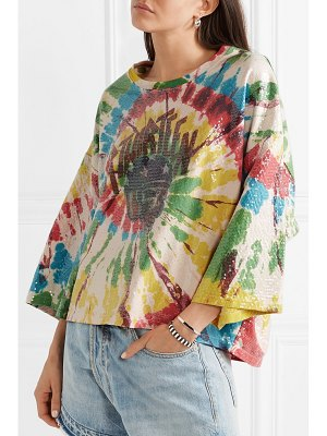 R13 sequin-embellished tie-dyed cotton-jersey t-shirt
