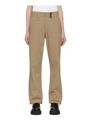 R13 tan ring slouch trousers