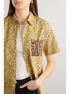 R13 tony printed cotton and silk-chiffon shirt