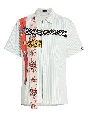 R13 tony ribbon patch button-down shirt