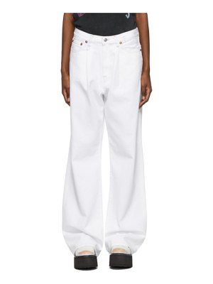 R13 white damon pleated jeans