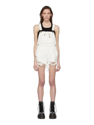 R13 white overall jumpsuit