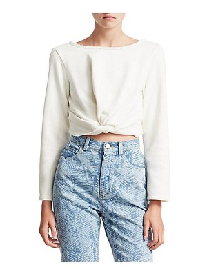Rachel Comey argento knotted crop top