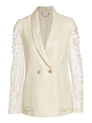 Rachel Comey perth embellished sheer sleeve blazer
