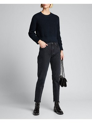 Rachel Comey Theorem Open-Back Cropped Pima Sweater
