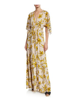 Rachel Pally Lily-Print Caftan Maxi Dress