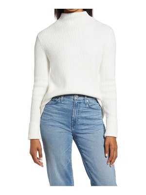 Rachel Parcell funnel neck ribbed sweater