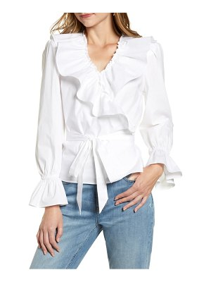 Rachel Parcell ruffle wrap top