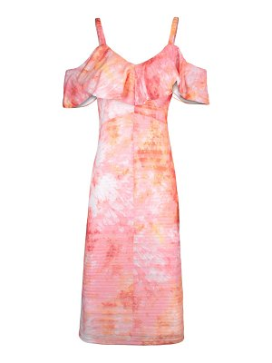 RACHEL RACHEL ROY marcella tie dye cold shoulder rib dress