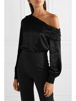 Rachel Zoe melissa one-shoulder satin bodysuit