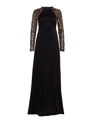Rachel Zoe miabella sequin long-sleeve a-line gown