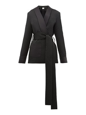 RACIL angel belted quilted-satin wrap jacket