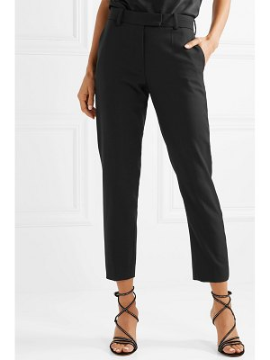 RACIL aries cropped satin-trimmed wool-piqué tapered pants