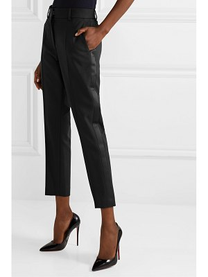 RACIL aries satin-trimmed wool-crepe tapered pants