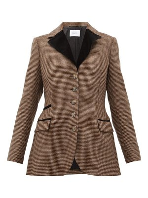 RACIL curtis single-breasted houndstooth wool jacket