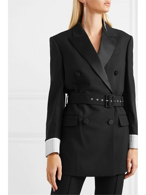 RACIL farrah belted double-breasted houndstooth wool blazer