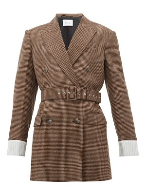 RACIL farrah belted wool houndstooth jacket