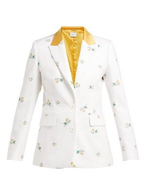 RACIL george floral single-breasted cotton-blend blazer