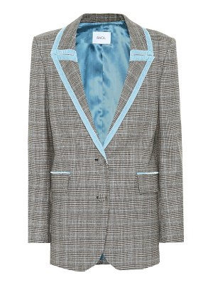 RACIL okiya checked wool blazer