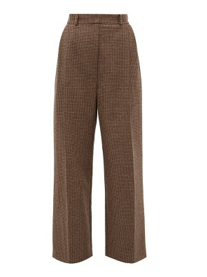 RACIL robert side-striped houndstooth-wool trousers